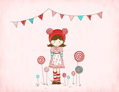 Miss Lolly Illustration by alittlesweetness on Etsy, $20.00