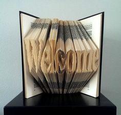 art hand, folded book art, book sculpture, fold book, paper sculptures, hand craft