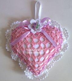 Tecendo Artes em Crochet: Sachê Coração com o Gráfico!
