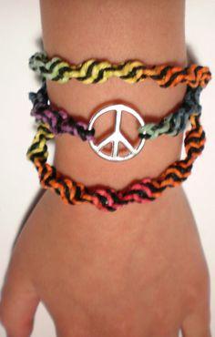 hemp wrap hemp bracelet rainbow hemp hemp by goodolddayshempshop, $10.00