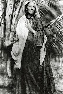 Naturalist and artist Marianne North posing, around 1880.