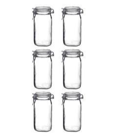 Bormioli Rocco Fido 50.75-Oz. Canning Jar - Set of Six by Market Fresh: Canning Supplies