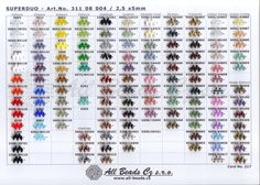 SUPERDUO - colour chart