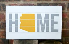 Home State Board from The Handmade Nest