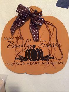 Fall door hanger.