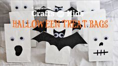 Ghost, bat and skeleton bags made all from the same materials! Learn how to make these spooky and fun gift bags for your little trick-or-treaters with @pbsparents.