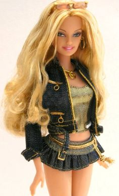 Hip Guess Jeans Barbie in Gold | Flickr - Photo Sharing!