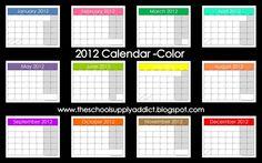 Teacher Forms & Calendars