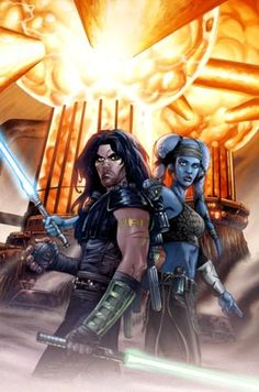 Quinlan Vos and Aayla Secura by Jan Duursema and Brad Anderson