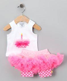 Pink Cupcake Tank & Pettiskirt by Mud Pie on #zulily