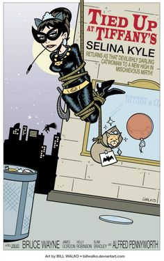 """Selina Kyle II    """"The commissioner requested Catwoman tied & caught, but I'm betting Selina will still make a daring escape in time to make that crazy party at her apartment."""""""