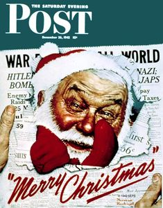 Santa's in the News by Norman Rockwell, December 26, 1942