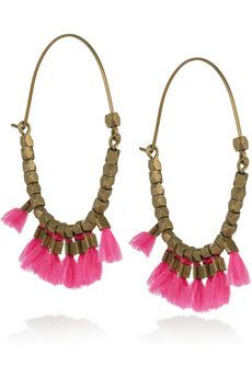 Isabel Marant 'the who' brass hoop earrings. Cannot wait to wear them!