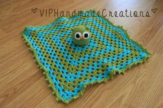 Owl Security Blanket - Owl Stuffed Animal - Amigurumi Owl Lovey