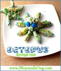 Underwater Octopus Rice Krispie Treats #easytomake