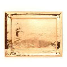 trays, hammer copper, rectangular tray, accessori, dutch intern, copper tray, rectangular hammer, dutch decor, design
