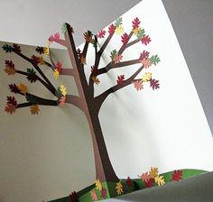 CornerstoneLAE: Pop-up Cards Fall cart popup, card fall, autumn tree, impress pop, popup book, craft idea, popup card, cornerstonela, falltreepopup1jpg 400380