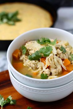 Roasted Poblano Chicken Chili - by Cooking for Keeps
