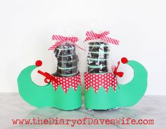 the Diary of DavesWife: Oreo Elf Feet with Free Printable Pattern