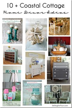 10  Coastal Cottage Home Decor Ideas from Setting for Four