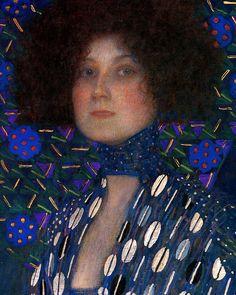 Gustav Klimt: Emilie Floge, 1902 (detail)