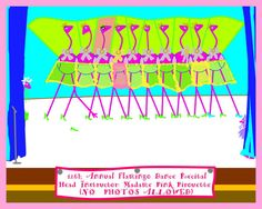 Fun Flamingo Recital 8x10 by Sweetlandarts on Etsy, $18.00