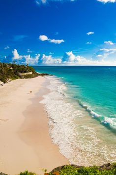 The famous beach at The Crane, St. Philip Barbados.