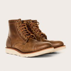 Oak Street Bootmakers | Natural Vibram Sole Cap-toe Trench Boot