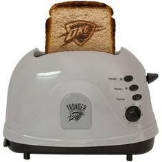 Oklahoma City Thunder Toaster- definitely Casey's birthday present.