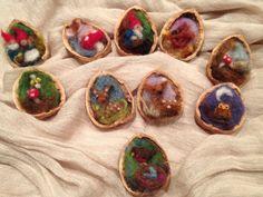 incred ornament, waldorf, walnut shell, christmas ornaments