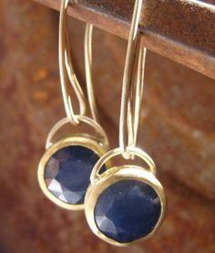 African Sapphire Earrings