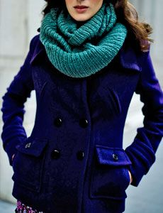 color combo, etern scarf, infinity scarfs, colors in fashion, scarves, closet, chilli cloth, blues, beauti blue