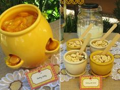 pooh parti, shower food, honeycomb cereal, shower idea, winnie the pooh, babi shower, themed parties, pooh babi, baby showers