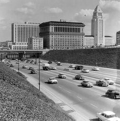 The Hollywood Freeway in downtown Los Angeles (ca. 1958)