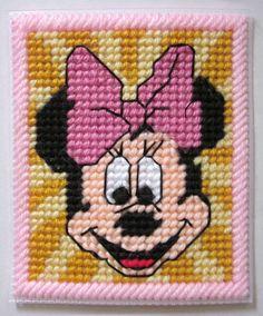 Minnie Mouse tissue box cover in plastic canvas