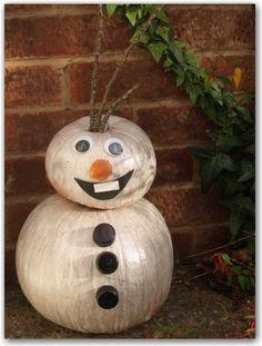 Olaf pumpkin tutorial