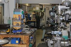 Machine shop section of the assembly floor.