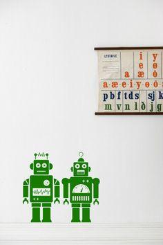 Robots - green  stickers ferm living