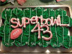 Superbowl Cupcake Cake