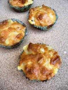 Tía Alia Recetas: Muffins salados de salchicha blanca y queso emmental