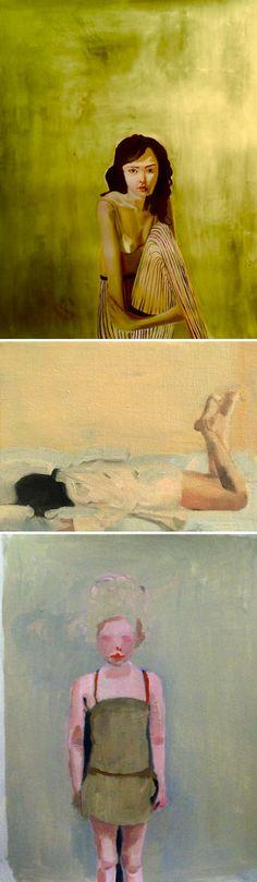 Paintings from grad school, kimia kline