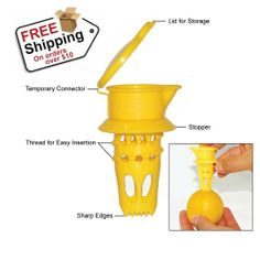 EcoJeannie Citrus Tap, Lemon Juicer (Patent Pending), Lime Juice Extractor