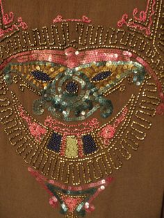 Detail of the beadwork on a 1920s dress...
