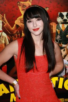 Lauren McKnights long hairstyle with bangs