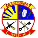 "Marine Aviation Logistics Squadron 36 (MALS-36), Futenma Okinawa Japan Marine Corps Base, ""Bladerunner"""