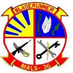 "Marine Aviation Logistics Squadron 36 (MALS-36), Futenma Okinawa Japan Marine Corps Base, ""Bladerunner"""