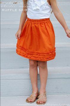 Child's Elastic Waist Ruffled Skirt   A Small Snippet