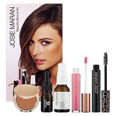 Josie Maran, Beautiful Bronze Kit. Formulated WITHOUT:  - Parabens  - Sulfates  - Synthetic Fragrances  - Synthetic Dyes  - Petrochemicals  - Phthalates  - GMOs  - Triclosan ~ $36 (74 value)