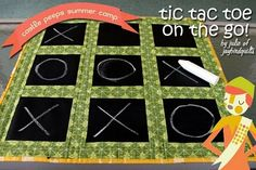 chalk fabric tic tac toe game