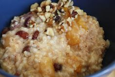Overnight Crockpot Oatmeal - Turn on right before heading to bed and wake up to delicious smells and breakfast already made! The dried fruit inside practically dissolves inside for a tasty, healthy, morning meal!